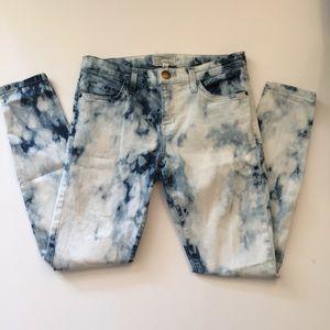 Current/Elliot 27 Summer Tye Dye Stiletto Jean